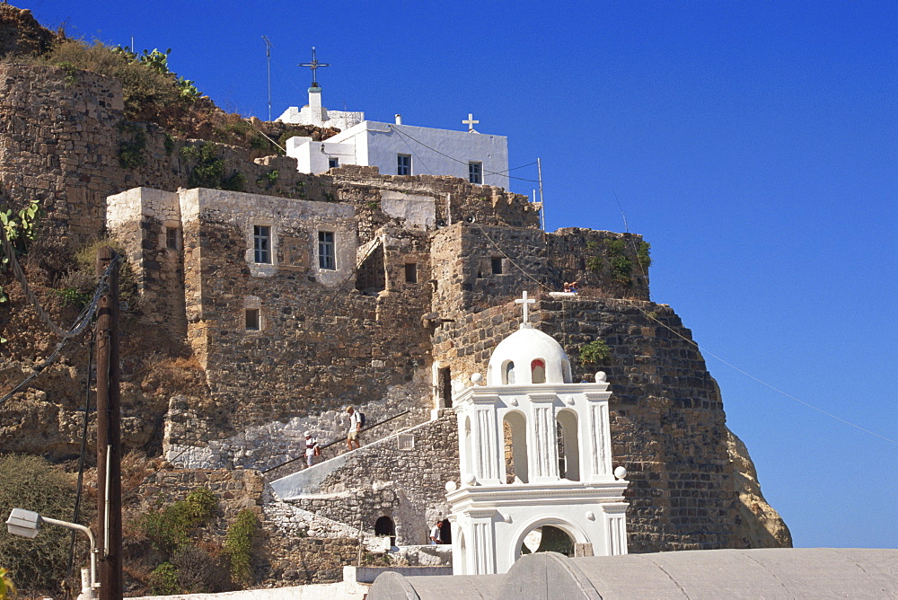 Castle, Mandraki, Nissyros, Dodecanese, Greek Islands, Greece, Europe - 110-17484