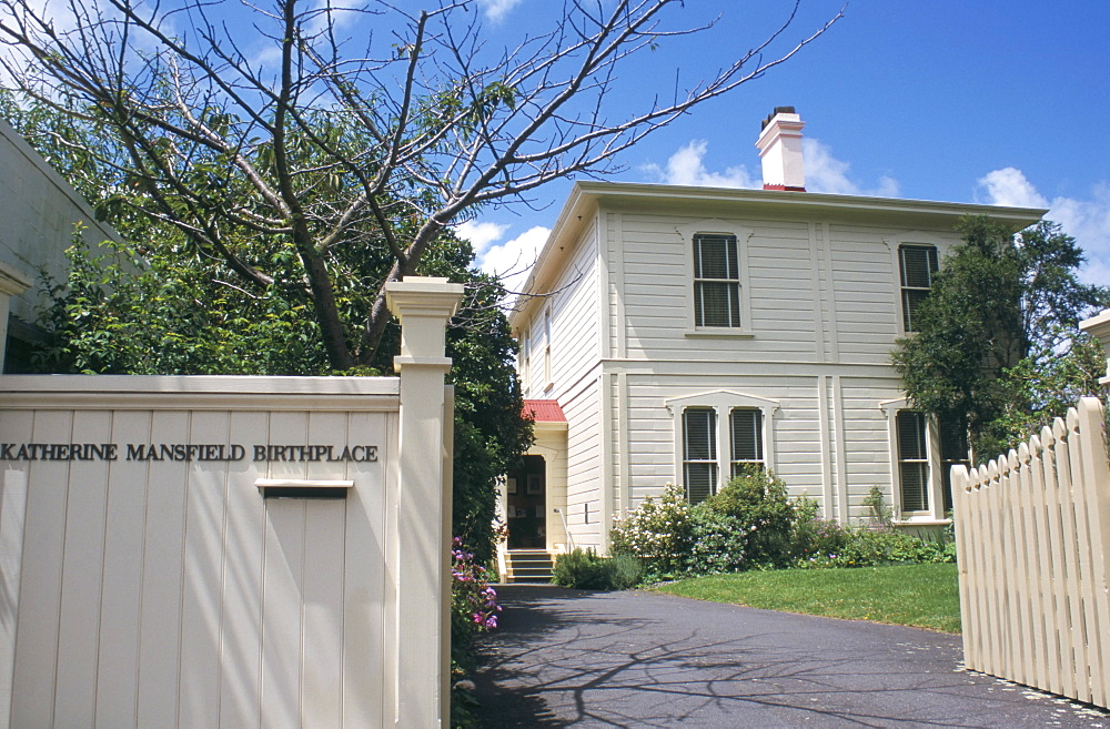 Writer Katherine Mansfield's birthplace, now a museum, Wellington, North Island, New Zealand, Pacific