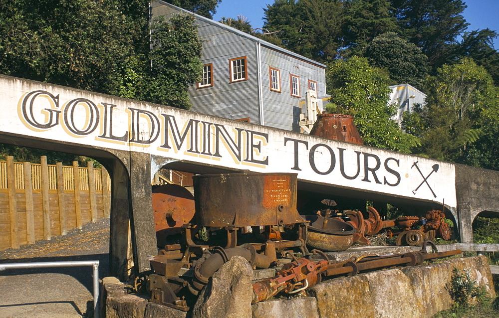 Goldmine museum, Thames, Coromandel Peninsula, South Auckland, North Island, New Zealand, Pacific
