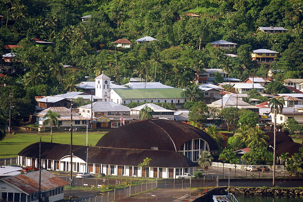 The town of Pago Pago on U.S. Samoa, Pacific Islands, Pacific