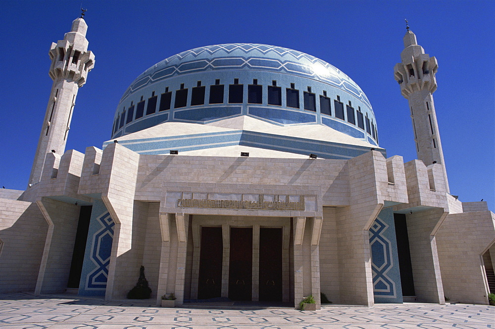Abdullah Mosque, Amman, Jordan, Middle East - 110-4959