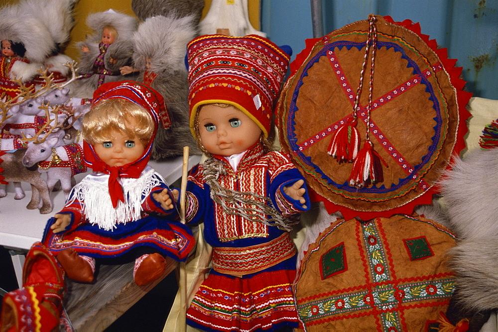 Lapp dolls, Tromso, Norway, Scandinavia, Europe