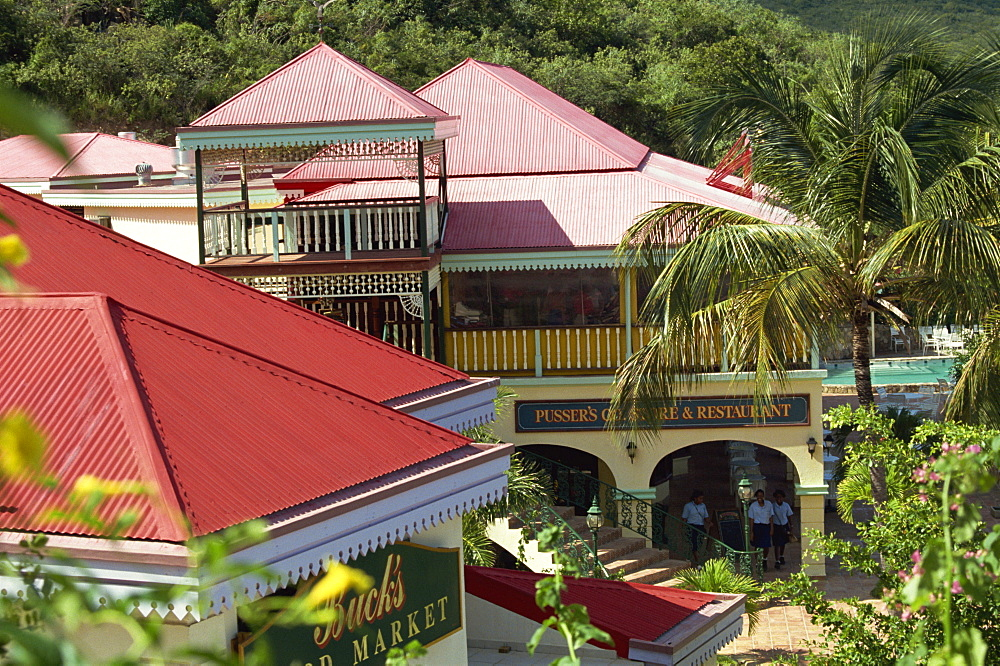 Pusser's store, bar and restaurant, Laverick Bay, Virgin Gorda, Virgin Islands, West Indies, Caribbean, Central America - 110-7823