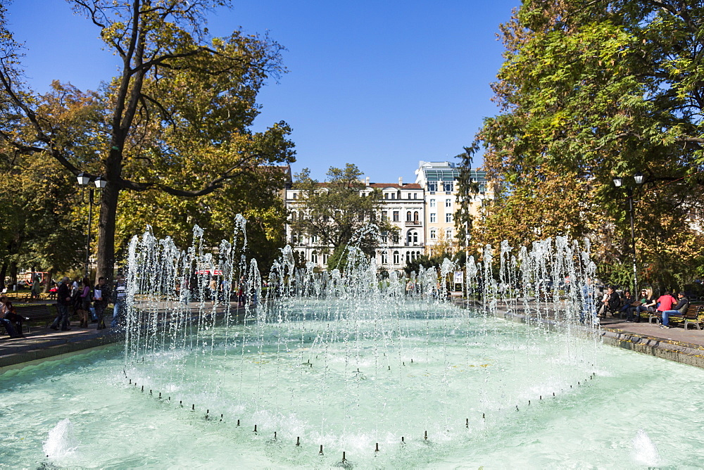 City Garden Park, Fountains, Sofia, Bulgaria, Europe