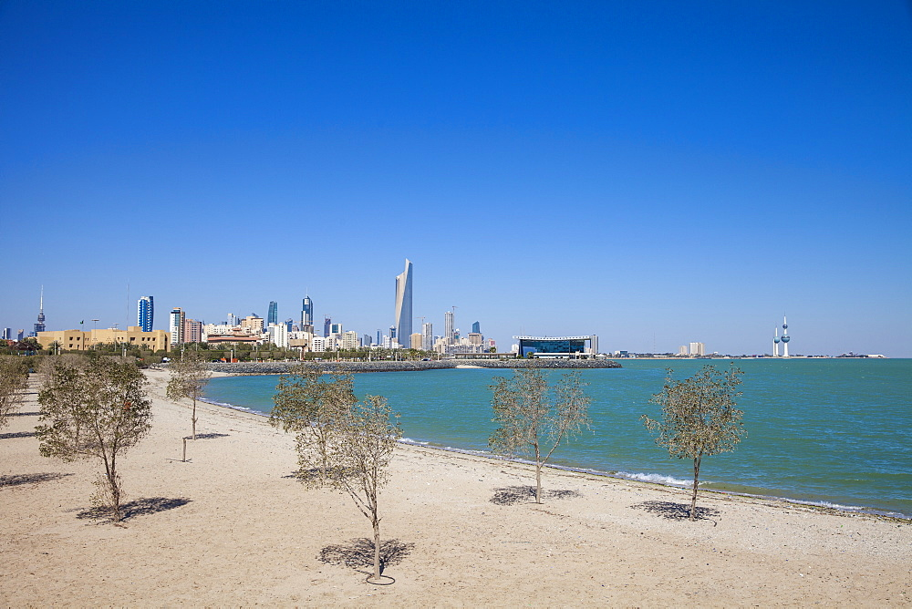 Beach near Green Island, Kuwait City, Kuwait, Middle East