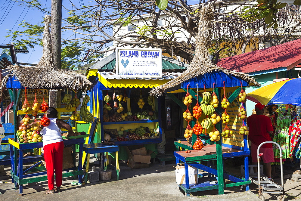 St Vincent and The Grenadines, Union Island, Clifton, Outdoor market