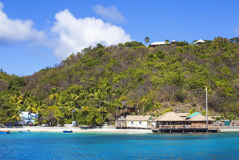 Basil's Bar, Brittania Bay, Mustique, The Grenadines, St. Vincent and The Grenadines, West Indies, Caribbean, Central America