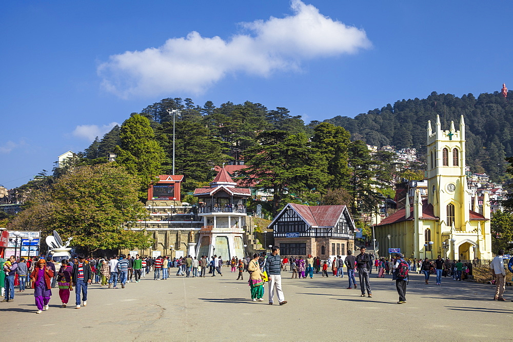 Christ Church, The Ridge, Shimla (Simla), Himachal Pradesh, India, Asia