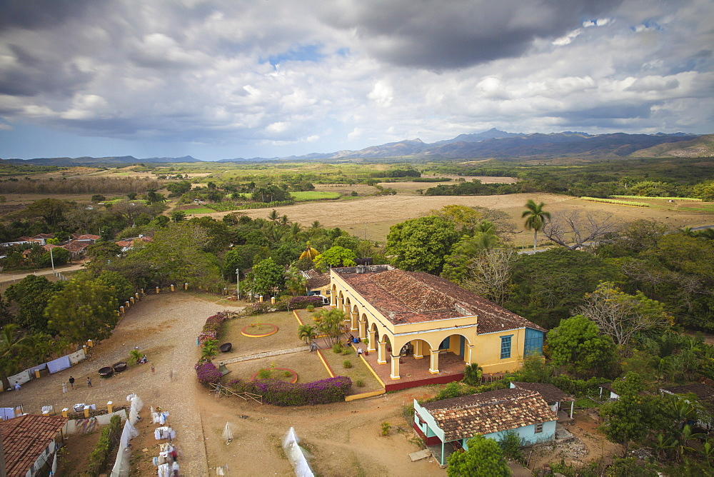 View of Hacienda from the Slave Tower, Valle de los Ingenios (Valley of the Sugar Mills), UNESCO World Heritage Site, Trinidad, Sancti Spiritus Province, Cuba, West Indies, Caribbean, Central America