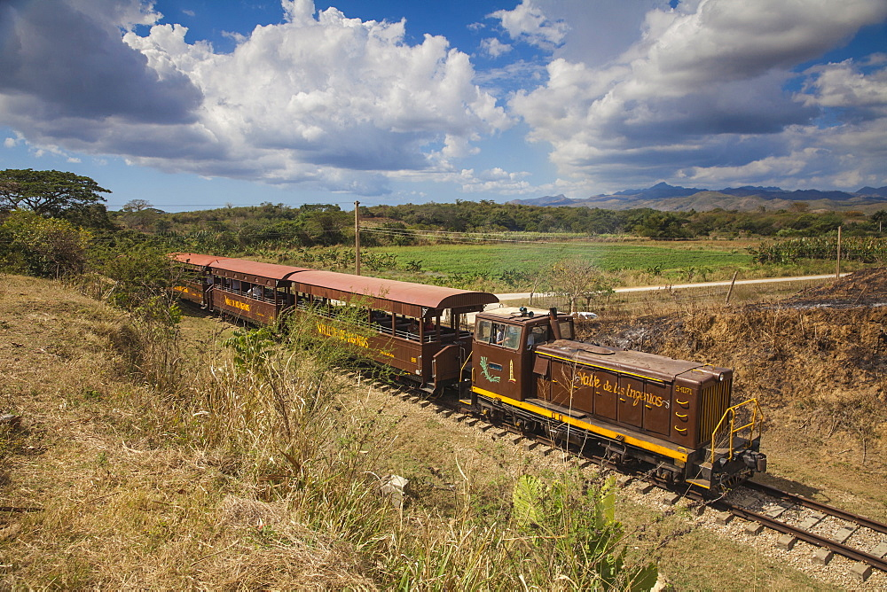 Railway train, Valle de los Ingenios (Valley of the Sugar Mills), UNESCO World Heritage Site, Trinidad, Sancti Spiritus Province, Cuba, West Indies, Caribbean, Central America