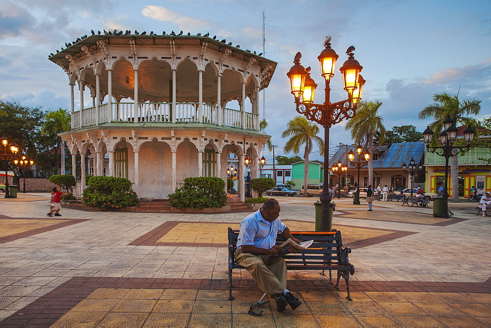 Gazebo in Central Park, Puerto Plata, Dominican Republic, West Indies, Caribbean, Central America