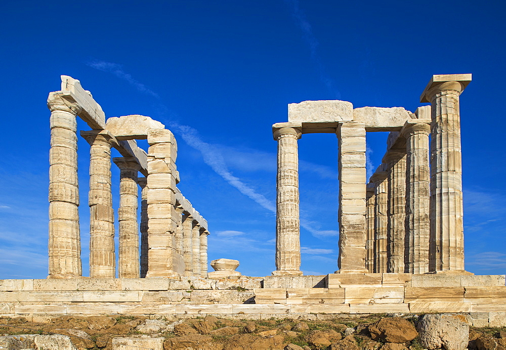 Temple of Poseidon, Cape Sounion, near Athens, Greece, Europe