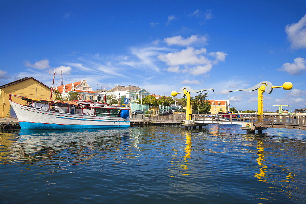 L.B. Smith Bridge, Punda, Willemstad, Curacao, West Indies, Lesser Antilles, former Netherlands Antilles, Caribbean, Central America