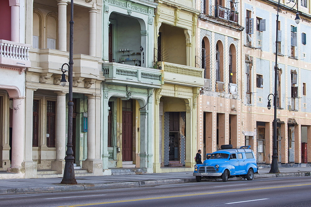 Buildings on The Malecon, Havana, Cuba, West Indies, Central America