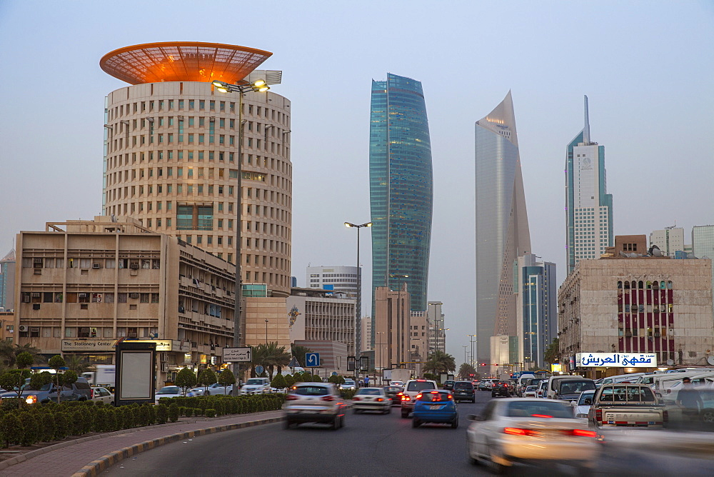 City center buildings, Kuwait City, Kuwait, Middle East