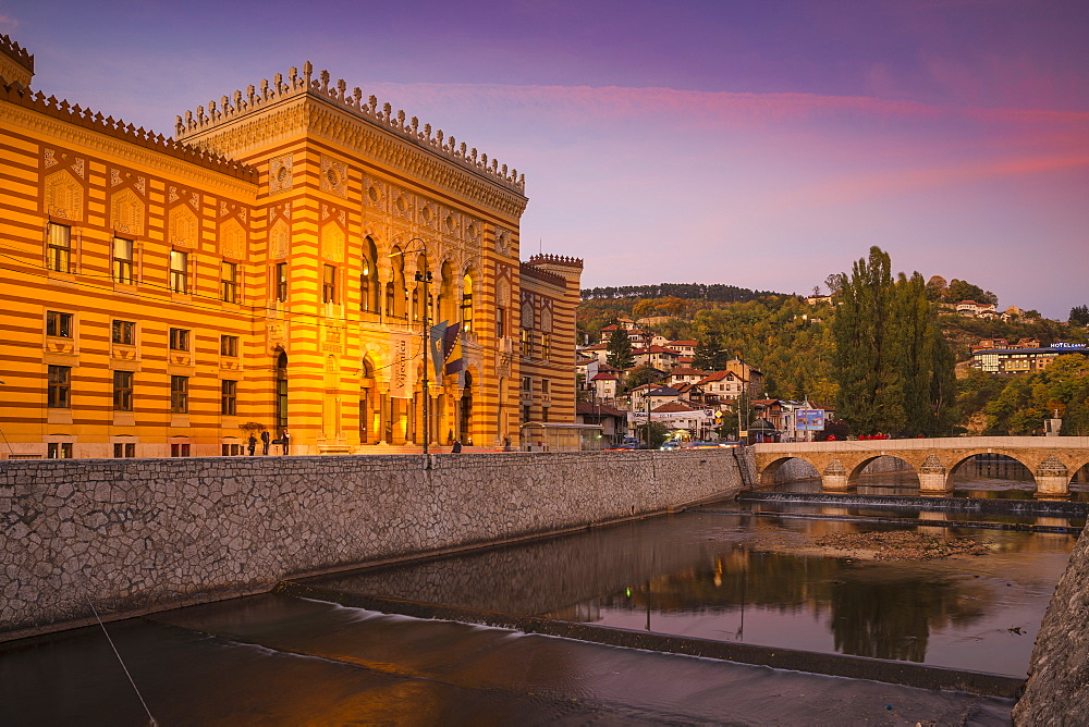 Town Hall, the Old Quarter (Bascarsija), Sarajevo, Bosnia and Herzegovina, Europe