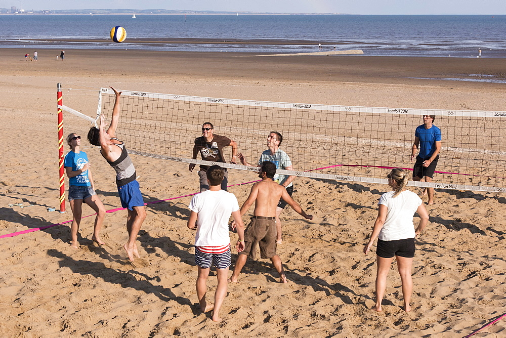 Beach volleyball, Swansea, Wales, United Kingdom, Europe