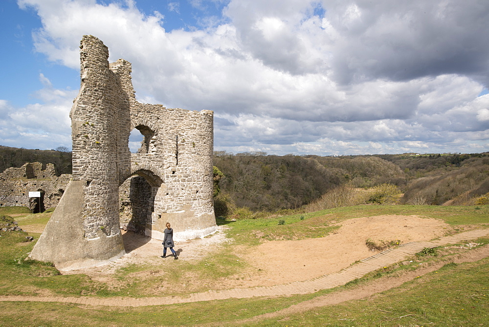 Pennard Castle, Gower, Wales, United Kingdom, Europe