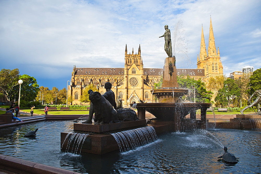 St. Marys Cathedral in Hyde Park, Sydney, New South Wales, Australia, Pacific