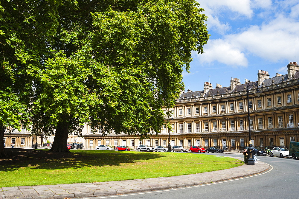 The Circus, Georgian architecture in Bath, UNESCO World Heritage Site, Avon and Somerset, England, United Kingdom, Europe