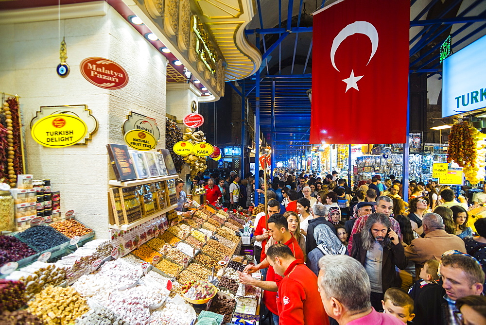 Grand Bazaar (Kapali Carsi), the largest market in Istanbul, Turkey, Europe