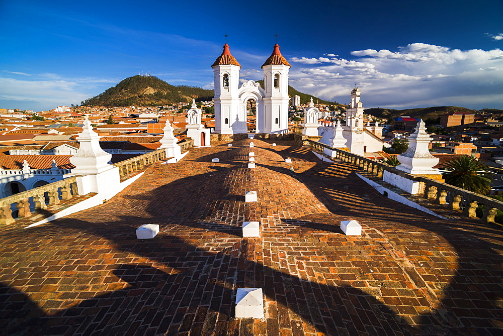 Rooftop of Church of San Felipe Neri (Oratorio de San Felipe de Neri), Historic City of Sucre, UNESCO World Heritage Site, Sucre, Bolivia, South America