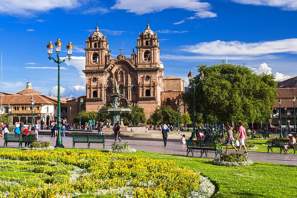 La Compania (Church of the Society of Jesus), Plaza de Armas, UNESCO World Heritage Site, Cusco (Cuzco), Cusco Region, Peru, South America