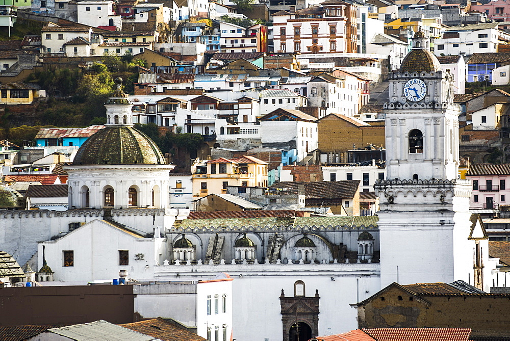 Architectural details at the Old City of Quito, UNESCO World Heritage Site, Ecuador, South America