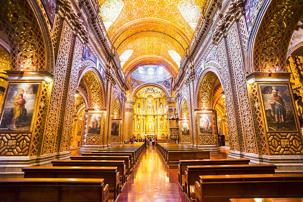 La Iglesia de la Compania de Jesus, City of Quito, Ecuador, South America