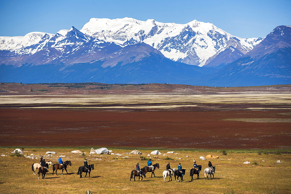 Horse trek on an estancia (farm), El Calafate, Patagonia, Argentina, South America - 1109-2112