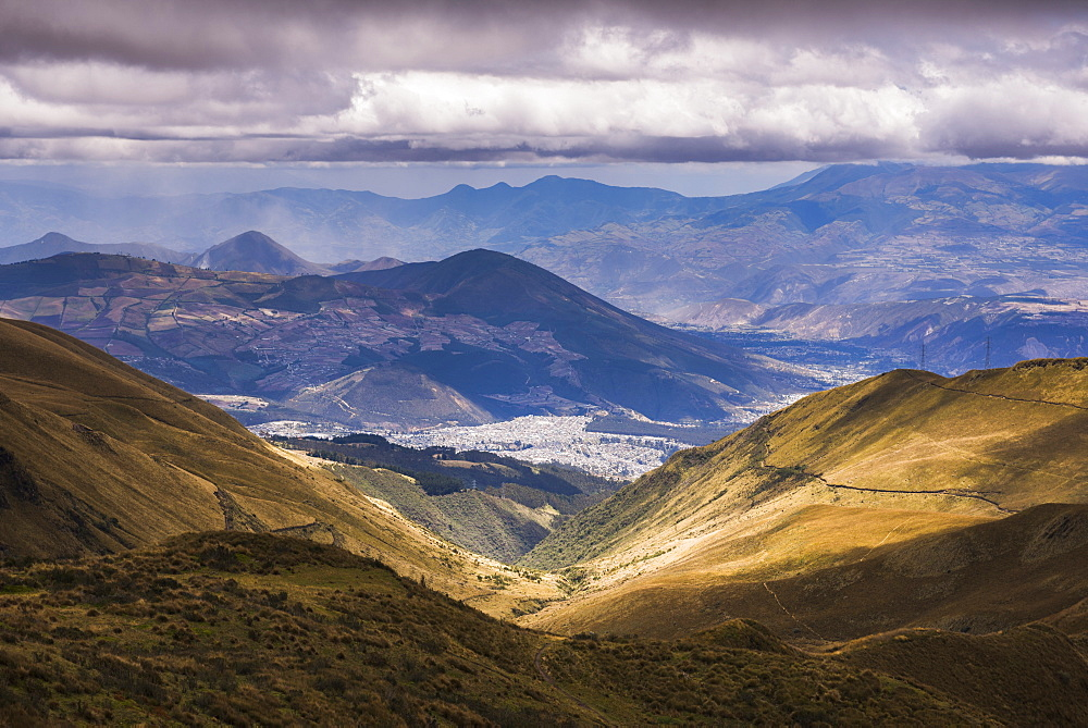 Most northern point in Quito seen from Pichincha Volcano, Ecuador, South America