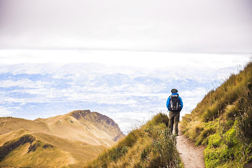 Rucu Pichincha Volcano trek, Quito, Pichincha Province, Ecuador, South America, South America
