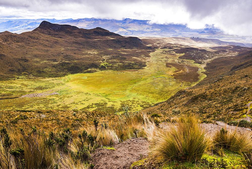 Ruminahui Volcano Valley, Cotopaxi National Park, Avenue of Volcanoes, Ecuador, South America