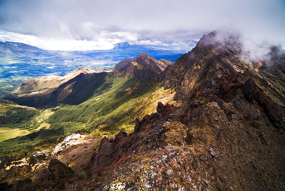 Ruminahui Volcano summit, Cotopaxi National Park, Avenue of Volcanoes, Ecuador, South America