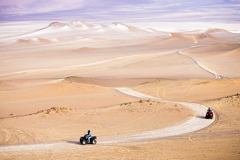 Quadbiking in Paracas National Reserve (Reserva Nacional de Paracas), Ica, Peru, South America