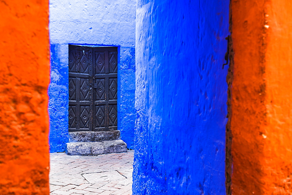 Santa Catalina Monastery (Convento de Santa Catalina) (St. Catherine), a convent in Arequipa, Peru, South America