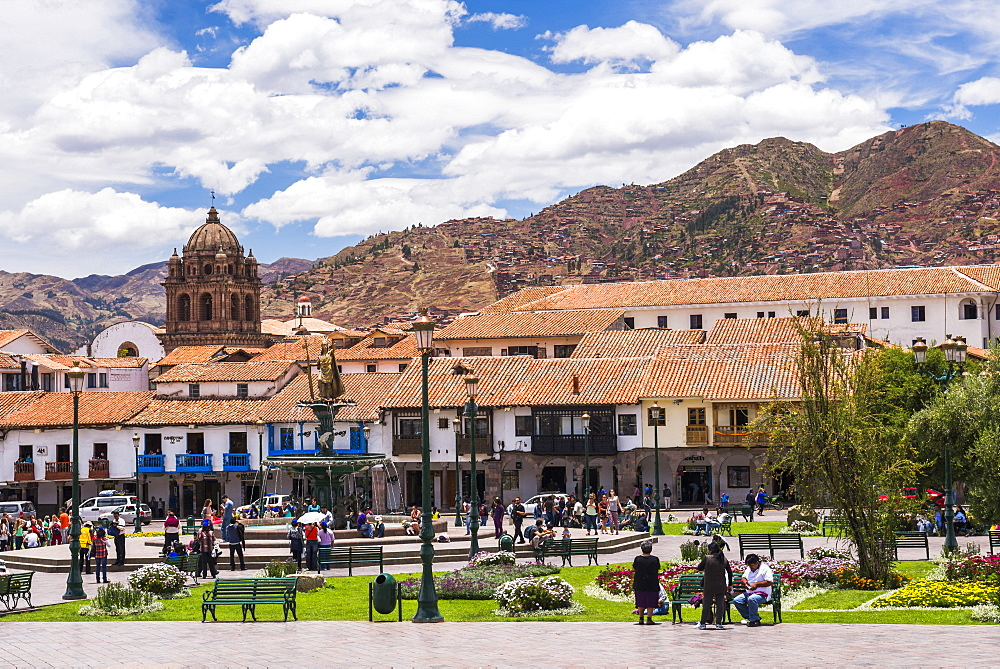Plaza de Armas, UNESCO World Heritage Site, Cusco (Cuzco), Cusco Region, Peru, South America