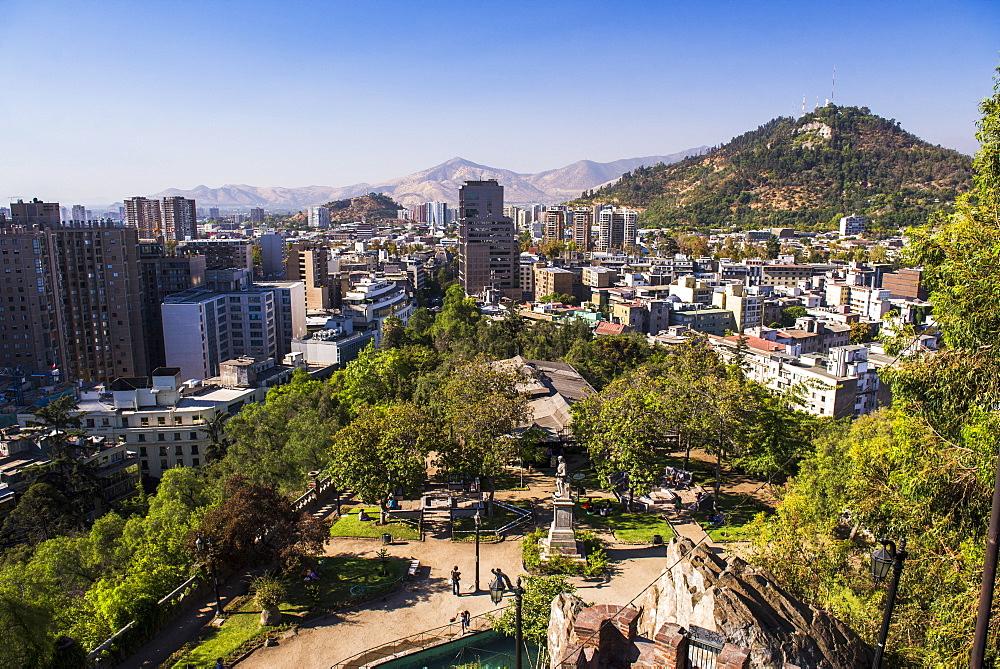 Cerro Santa Lucia (Santa Lucia Park Hill), Santiago, Santiago Province, Chile, South America