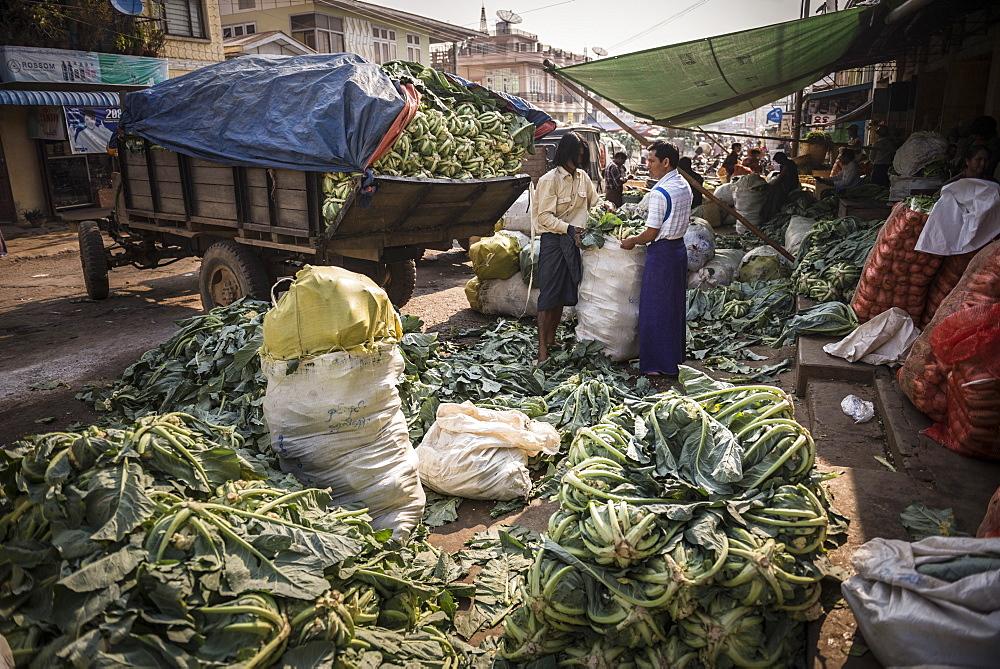 Pyin Oo Lwin (Pyin U Lwin) Market, Myanmar (Burma), Asia