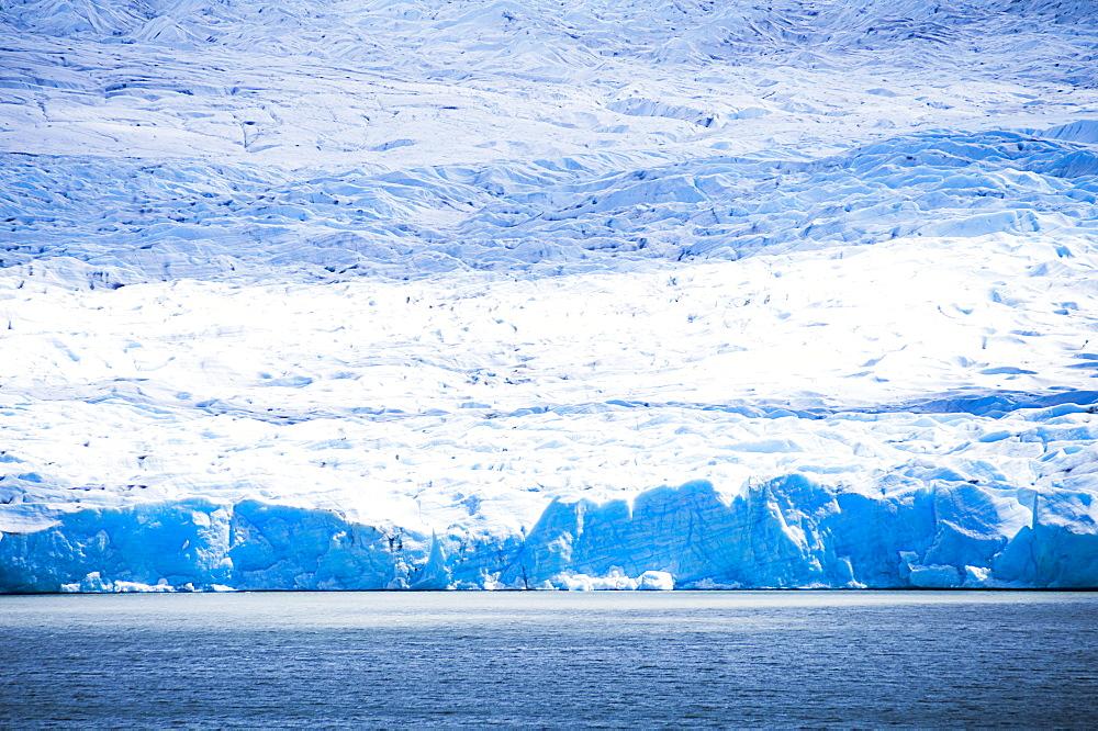 Grey Glacier (Glaciar Grey), Torres del Paine National Park, Patagonia, Chile, South America