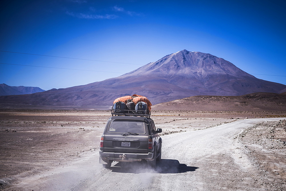 A 4wd Bolivian Altiplano tour passing volcanoes, South-West Bolivia, South America