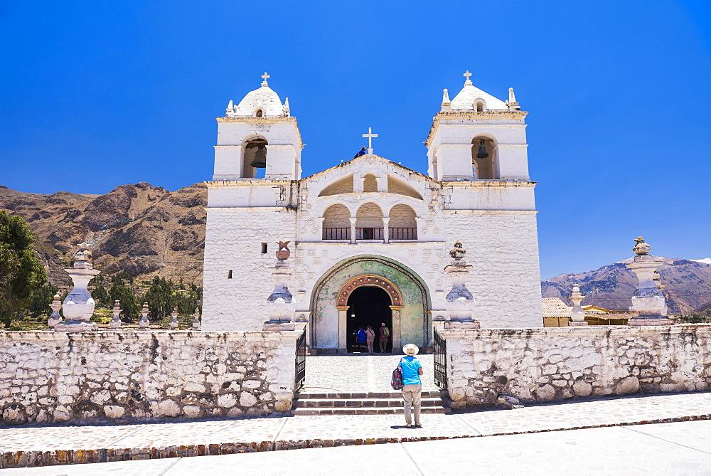 Iglesia de Santa Ana de Maca, a church in Maca, Colca Canyon, Peru, South America