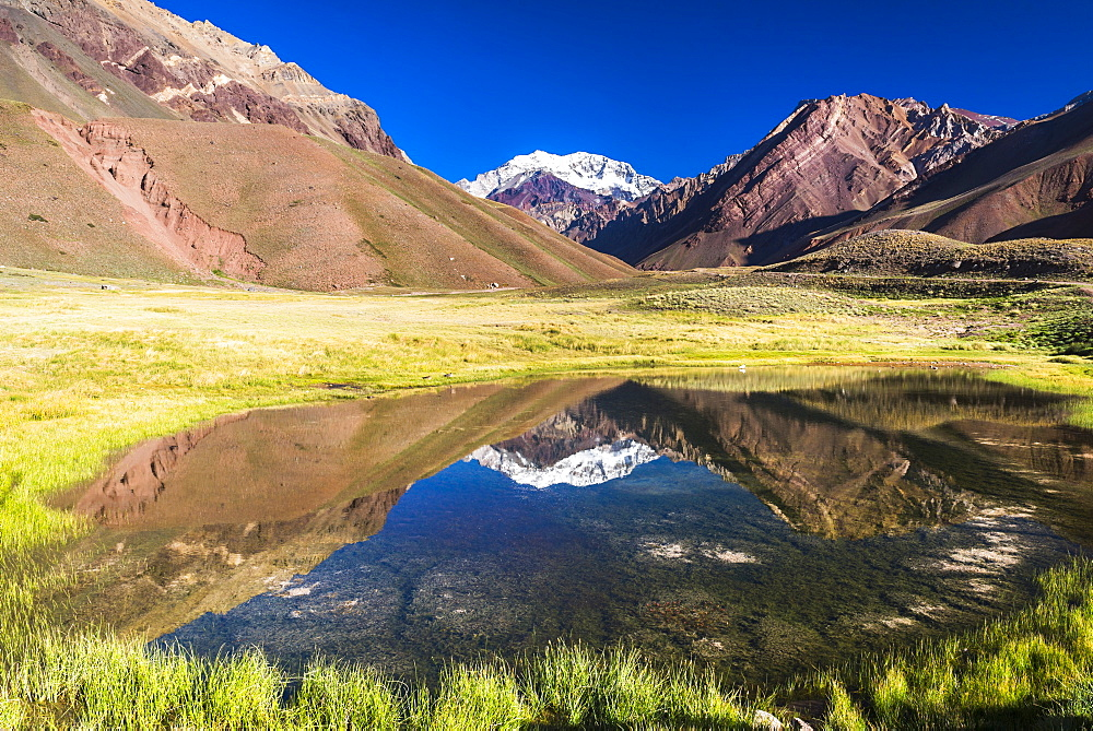 Aconcagua, at 6961m, the highest mountain in the Andes Mountain Range, Aconcagua Provincial Park, Mendoza Province, Argentina, South America