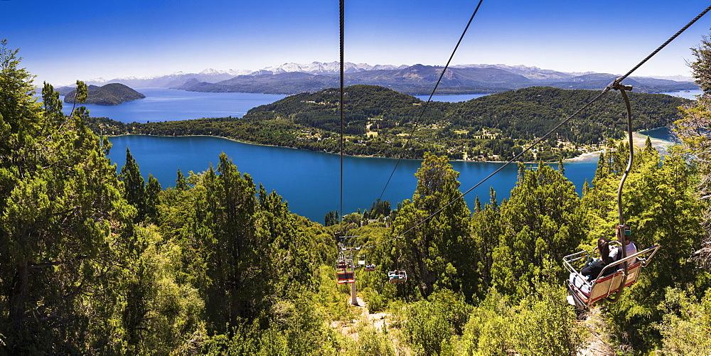 Cable car teleferico at Cerro Campanario (Campanario Hill), Bariloche (San Carlos de Bariloche), Rio Negro Province, Patagonia, Argentina, South America