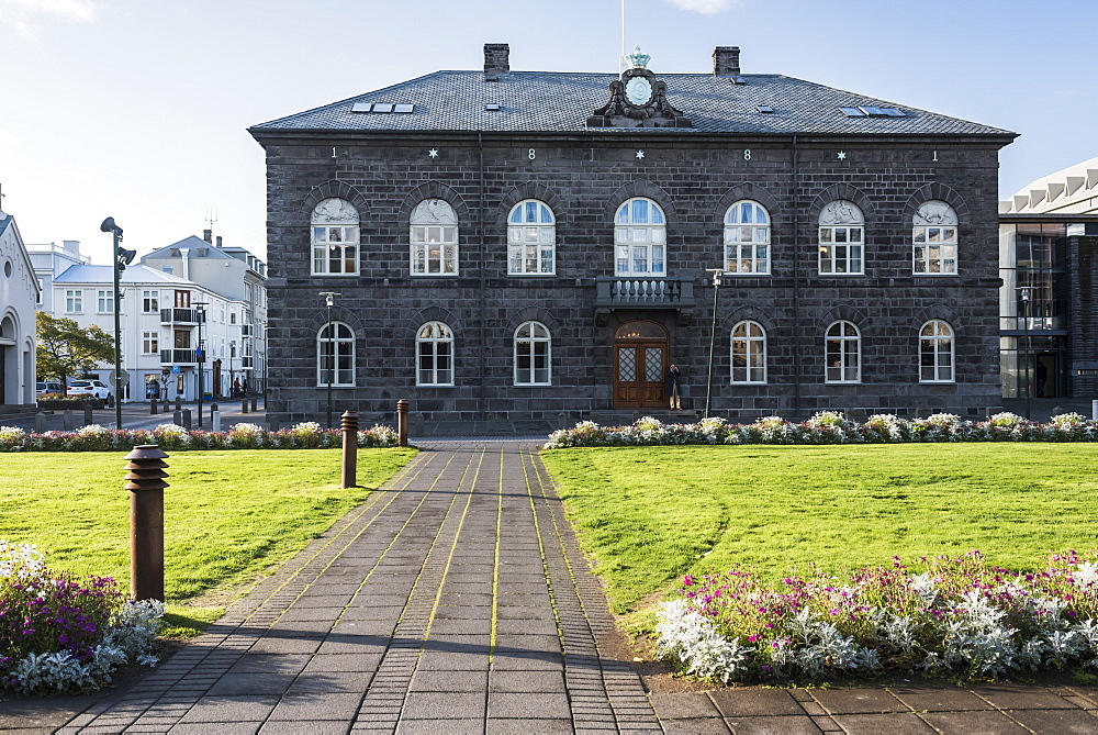 Parliament Building (Alpingis Husid) in Reykjavik Old Town, Iceland, Polar Regions