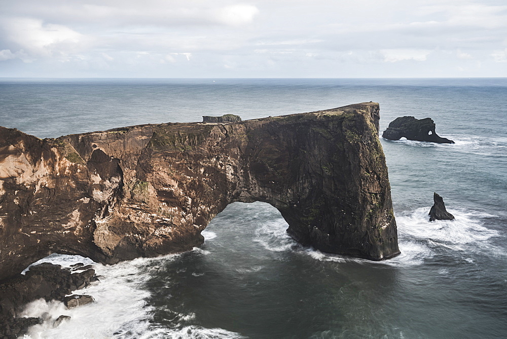 Dyrholaey Rock Arch, Dyrholaey Peninsula, near Vik, South Iceland (Sudurland), Iceland, Polar Regions