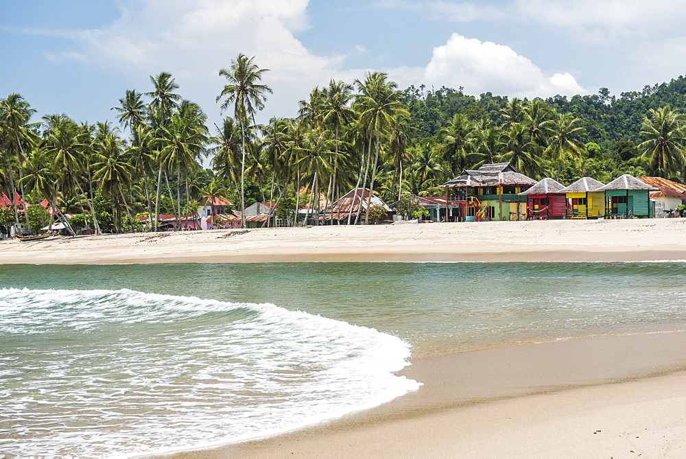 Sungai Pinang Beach and Rasta Beach Bungalows, near Padang in West Sumatra, Indonesia, Southeast Asia, Asia
