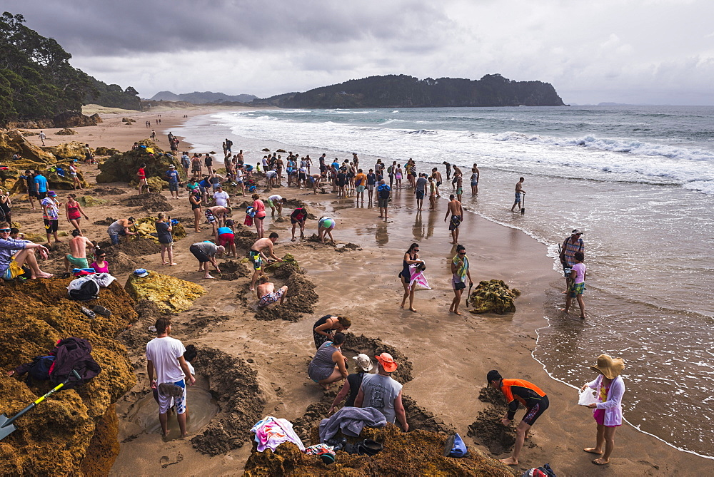 Hot Water Beach, Hahei, Coromandel Peninsula, North Island, New Zealand, Pacific