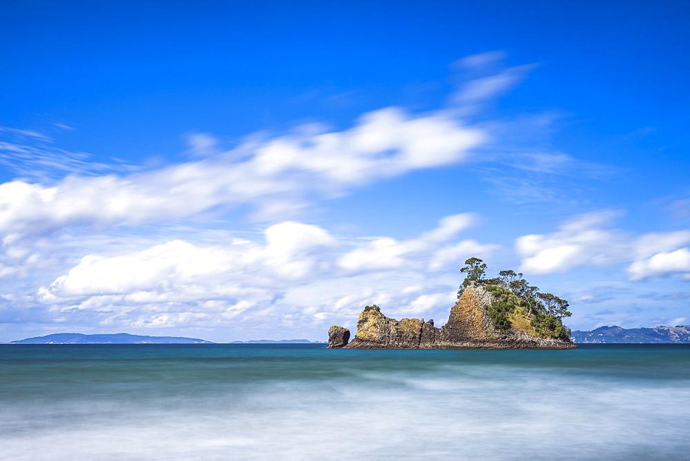 Pungapunga Island, Whangapoua Beach, Coromandel Peninsula, North Island, New Zealand, Pacific