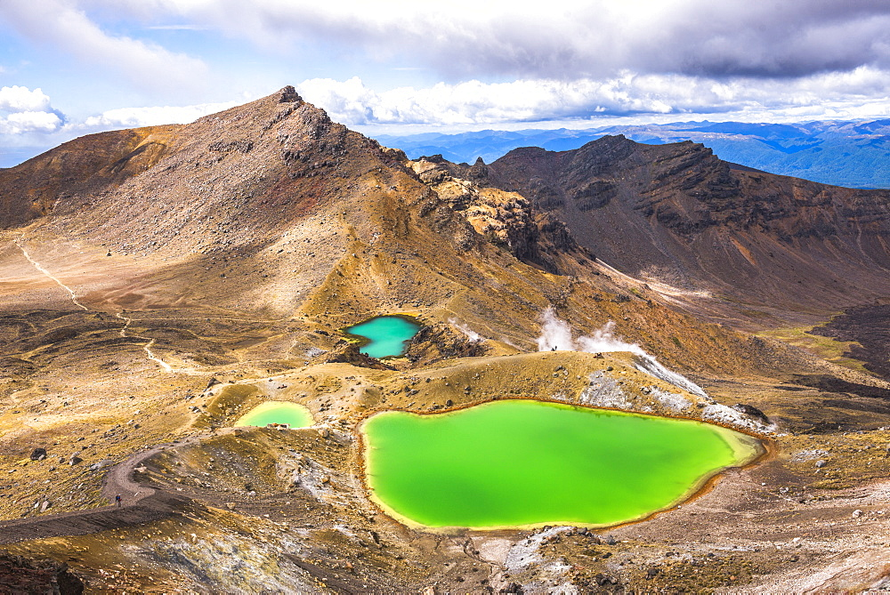 Emerald Lakes, Tongariro Alpine Crossing Trek, Tongariro National Park, UNESCO World Heritage Site, North Island, New Zealand, Pacific